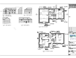 Building Control Drawing for New Build Holiday Home