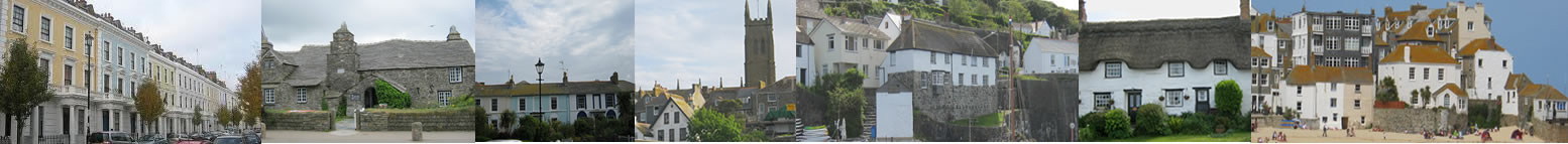 Various architectural vernacular housing in Cornwall, includes St Ives, Truro, Newquay, St Mawgan